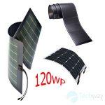 tấm pin năng lượng mặt trời dẻo 120w