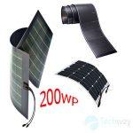 tấm pin năng lượng mặt trời dẻo 200w