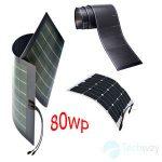 tấm pin năng lượng mặt trời dẻo 80w