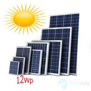 tấm pin năng lượng mặt trời 12w mono
