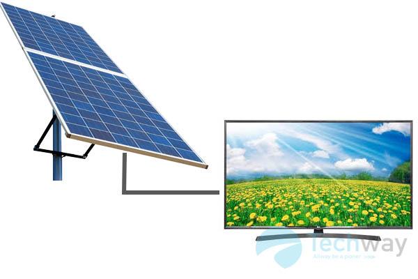 tivi dùng pin mặt trời