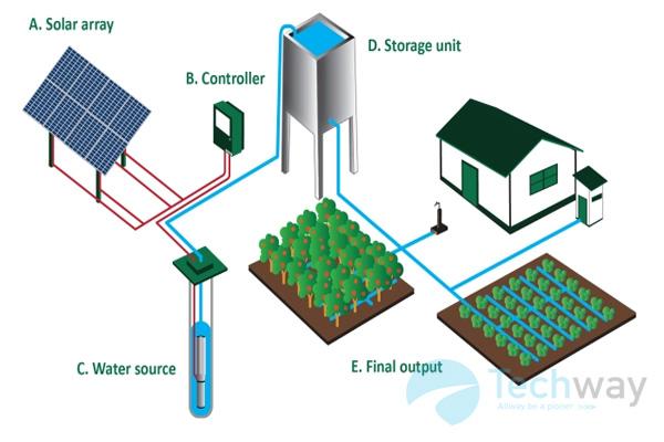 Bơm nước năng lượng mặt trời giải pháp cung cấp nước bền vững